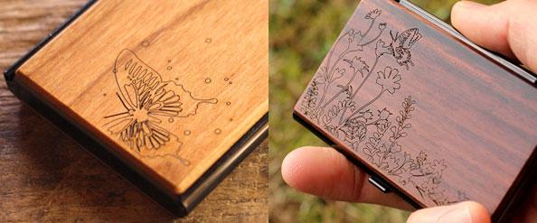 木製の名刺入れ