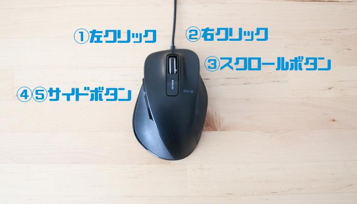 CAD用マウス-5ボタン