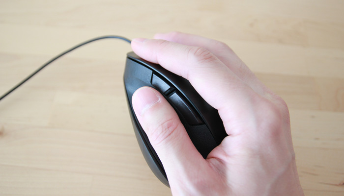 CAD用マウス-サイドボタン